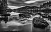 At the River II (Zesk MF) Tags: bw balck white mono art nd ndfilter graufilter langzeit longtime zesk mosella mosel river fluss trier wasser movement nikon sigmaart water reflection woods sky clouds bewegung stones rocks mariensäule