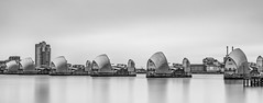 High Tide and High Key... (Aleem Yousaf) Tags: high tide thames barrier london flood protection monochrome long exposure river photography path lee filters neutral density nikon d800