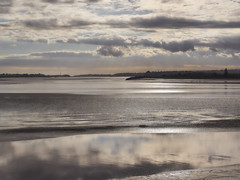 Severn Estuary (Maggie's Camera) Tags: severnestuary river tidal water mud clouds sky reflections gleaming glittering shining gloucestershire october 2017