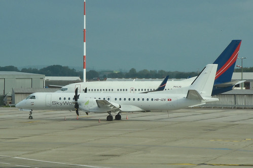 SkyWork Airlines Saab 2000; HB-IZS@BSL;25.07.2017