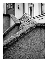 R (seba0815) Tags: ricohgrdiv grdiv streetphotography forms geometry concrete building architecture poland polska sopot grd door window r bw blackwhite blackandwhite blanc noir schwarzweis czarnobiale bianco nero monochrome seba0815