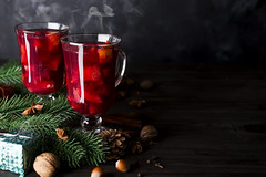Cup of hot wine with spices (lyule4ik) Tags: wine mulled hot red alcohol anise beverage cinnamon cup drink orange spice warm fruit ingredient sweet citrus cinnamonstick hotwine seasoning sugar christmas winter punch background glass holiday homemade seasonal slice spiced table traditional wooden xmas tea healthy closeup advent aromatic brown celebration colorful decoration delicious food lemon stick taste white