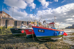 Fishing boats, Broadstairs (Aliy) Tags: boat boats fishingboat fishingboats broadstairs harbour beach lowtide kent 3 three prow prows explored