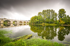 Reflections (Matthieu Manigold) Tags: sky longpose reflect mirror line tours loire fleuve reflection river water barque