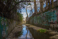 Artificial Rivers (MikeRatti) Tags: new jersey nj explore adventure photo shoot photograph photography canon t3i dslr river water stream artificial walls cement