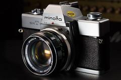 Minolta SRT 101 (Role Bigler) Tags: 101 55mm camera canon canonef28100islmacro canoneos5dsr fd100mm128 filmslr gear kamera madeinjapan minolta minoltamcrokkorpf11755mm minoltasrt101 photogear rokkor slr srt spiegelreflex spiegelreflexkamera film