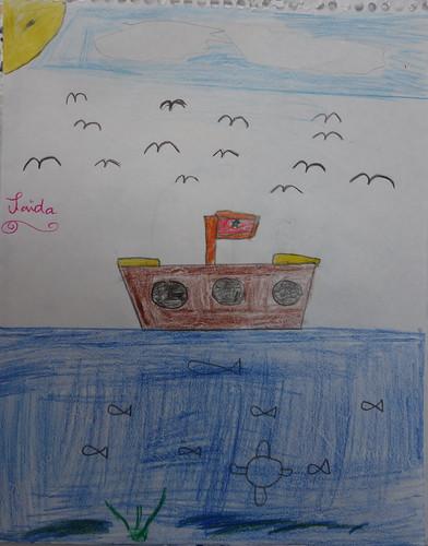 """dessin """"l'oiseau et l'enfant"""" (9)"""