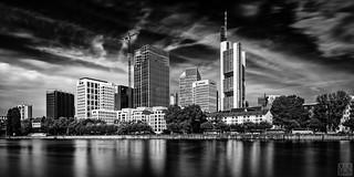 Frankfurt Skyline bw