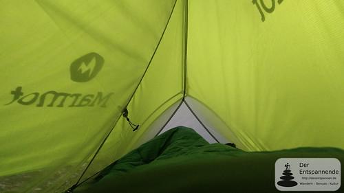 Aufwachen im Zelt