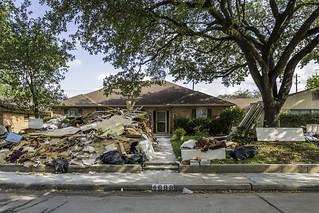 Meyerland Home After Hurricane Harvey Flood 2017