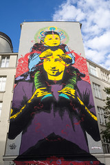 Painting on a building. Vienna - 06th distict (nicepicsnapper) Tags: house painting art prime lens vienna austria urban city buildings color