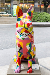 PAWS statue in Chicago, honouring fallen policemen