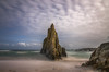 La roca. (Amparo Hervella) Tags: playamexota asturias españa spain nube paisaje largaexposición d7000 nikon nikond7000 comunidadespañola