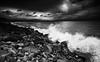 Rocky Shore (-- Q --) Tags: strandhill sligo atlanticocean atlanticcoast wildatlanticway ireland shore waves bigwaves clouds rocks lee09softgrad lee06softgrad scenicsnotjustlandscapes qthompson atmosphere