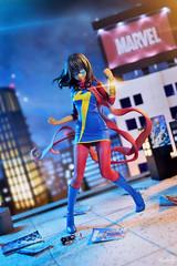 Ms. Marvel (GaleXV) Tags: jfigure bfigure kotobukiya marvel msmarvel kamalakhan bishoujo diorama city night buildings nikon d3100 toyphotography avengers