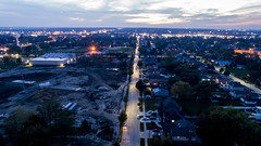 Evening Drone Photos - Oak Lawn, IL (Rick Drew - 19 million views!) Tags: oaklawn il illinois centennial park ook county trees forest grove playground grass field ballpark fence dji drone phantom4pro p4p night dark evening