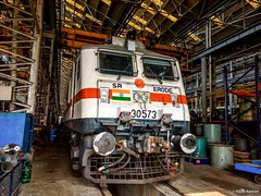 First 3-phaser WAP-7 to Erode Shed ! (Vijesh Kannan) Tags: wap7 erode first 30573 ed loco shed els 3phase indianrailways southern sr