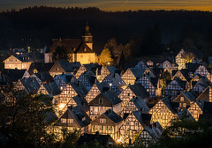 Freudenberg (K&S-Fotografie) Tags: freudenberg germany halftimber picturesque evening bluehour long exposure city kreis siegenwittgenstein himmel baum gebäude