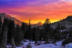 Autumn sunset at Olmsted Point, Yosemite National Park (Yaecker Photography) Tags: autumn junelake yosemitenationalpark yosemite halfdome sunset sunrisesunset sun landscape landscapephotography landscapecaptures california sierranevada highsierra sierra clouds skyporn sky orange goldenhour