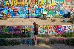 Young Artist (-Dons) Tags: austin texas unitedstates streetart tx usa graffiti boy mom mother woman chalk wall downtown