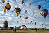Balloon launch field (Vironevaeh) Tags: abq albuquerque albuquerqueballoonfiesta albuquerqueinternationalballoonfiesta aviation balloon balloonfiesta balloons hotairballoon hotairballoons newmexico sky