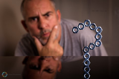 297/365 Puzzled ([inFocus]) Tags: 365 3652017 project365 photoaday photooftheday canon 2470mmf28lii creative reflection illusion creativity question nuts nut questionmark puzzled selfportrait selfie