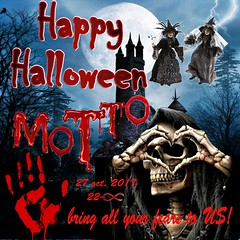 Bring all your fear to MOTTO..!! (MaeSTRo Footman) Tags: hallowen party motto fear 29 october friday event