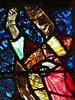 ca. 1360-1365 - 'Crucifixion, scenes from the Passion of Christ', Collégiale Saint-Florent, Niederhaslach, dép. Bas-Rhin, France (RO EL (Roel Renmans)) Tags: 1360 1365 window stained glass verrière glasgemälde fenster vitrail vitral glasinlood scenes niederhaslach bas rhin france german collégiale saint st florent florentius church kirche église iglesia armor armour 14th century christ vitraux jesus jeanbaptiste glasmalerei mail kettenhemd cotte de mailles hauberk studded gauntlet bascinet beckenhaube poleyn greave coatofplates