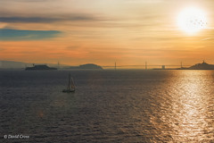 Searching for the Light (buffdawgus) Tags: alcatraz canon5dmarkiii canon70200mm28l fortbaker landscape lightroom6 sfoaklandbaybridge sailboat sanfrancisco sanfranciscobay seascape sunrise topazsw westcoast treasureisland