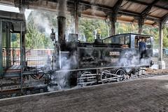 Steam locomotive (Guy Goetzinger) Tags: rot steam nikon d800 goetzinger train locomotive lok schweiz suisse switzerland historic dvzo daylight bauma schwyz bahnhof gare