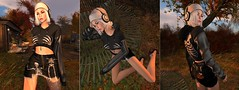 outside with my music (nicandralaval1) Tags: kitja spirit halloween fashion freebies firestormviewer secondlife nutmeg entwined hair deciduous maitreya lelutka laq bento hucci shoes