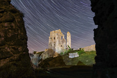 Corfe Castle Star Trails (mpelleymounter) Tags: corfecastle dorset dorsetnightsky dorsetnightscape dorsetlandscape corfe castle stars startrails longexposure stacked starstacking nightshoot nightsky canon5dmkiii earthrotation rocks grass sky castlewall dorsetaonb history historical