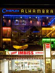 20171022-109 (sulamith.sallmann) Tags: freizeit gastronomie alhambra berlin cinema deutschland germany imbiss kino mitte nacht nachtaufnahme nachts night nightshot seestrase wedding deu