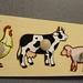 WP189, inlegplank 4 st. boerderijdieren