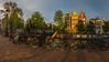 Keizersgracht Panorama (Gainesvilledutchie) Tags: panorama amsterdam keizersgracht gracht water architecture houses dutch netherlands holland nederland nederlands photography photo bridge bicycle lantern