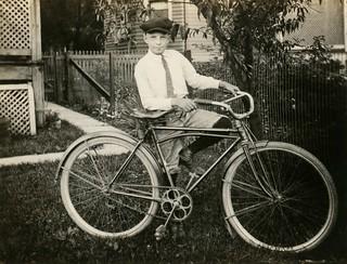 Lewis Metzler and His Bicycle, Williamsport, Pa., June 1921