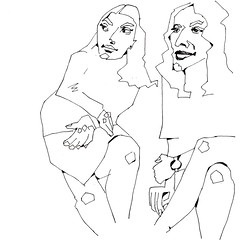 Eyeing [20171005] (rodneyvdb) Tags: abstracted art blackandwhite bw contemporary contemporaryart drawing expression expressionism fashion femme figure figurative fineart girls gossip illustration ink inkpen kunst modernart model muse paper pose sketch vogue woman women