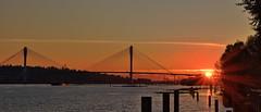 Port Mann Bridge at Sunset (Eric_Z) Tags: portmannbridge fraserriver portcoquitlam britishcolumbia canada canoneos7dmkii tamron1750mmf28
