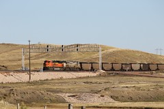 3G2A8016 (kschmidt626) Tags: powder river coal train wyoming bnsf union pacific sunset sunrise tier 4