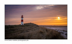sunset on an island (H. Roebke) Tags: lighthouse de deutschland color sunset canon35mmf14lusm nature sonnenuntergang germany natur architecture sand leuchtturm beach architektur sylt strand pink landscape landschaft canon7d 2012 lila insel lightroom sky rural lighthousethursday
