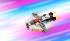 Microscale Ghost (Inthert) Tags: ghost moc phantom rebels star wars lego micro scale small ship space cluster zeb lasan lira san lasat