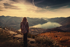 Cardada (Chrisnaton) Tags: cardada ticino switzerland lake viewpoint alpine nature eveningmood lagomaggiore backpack autumn