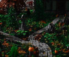 Coming Soon (dzambito42) Tags: lego halloween death grimreaper grim roadwork haunted house hauntedhouse