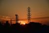 20171027_002_2 (まさちゃん) Tags: 雲 空 夕陽 夕焼け空 鉄塔 高圧送電線 シルエット silhouette 富士山