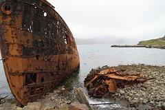Schiffswrack und Landschaft in Djupavik (reipa59) Tags: strandir fjord schrott wrack schiffswrack ruinen vestvirdir westfjords westfjorde heringsfabrik djupavik iceland island