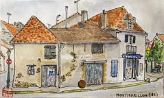 La France des sous-préfectures, 86 (chando*) Tags: croquis sketch aquarelle watercolor france