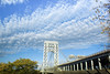 IMG_3408 (kz1000ps) Tags: newyorkcity nyc manhattan architecture urbanism cityscape morning sunrise washingtonheights newjersey palisades fortlee themodern georgewashingtonbridge sky clouds
