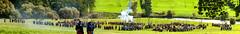 Battlefield pano 2 (Twiglet Images) Tags: horseman history englishhistory evolution nikon d700 pano panorama panoramic battlefield battle knight knights reanactment regiments pike man field warwick warwickshire edgehill home farm compton verney 375th anniversary cannon black powder shot