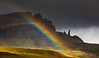 Rainbow at the Old Man of Storr, Isle of Skye, Scotland (MelvinNicholsonPhotography) Tags: skye oldmanofstorr scotland rainbow melvinnicholsonphotography rock mountain