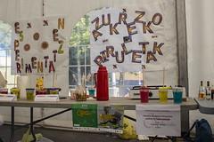 Anaitasuna Ikastola ha presentado experimentos físicos y químicos en la carpa exterior de Izarra Centre.